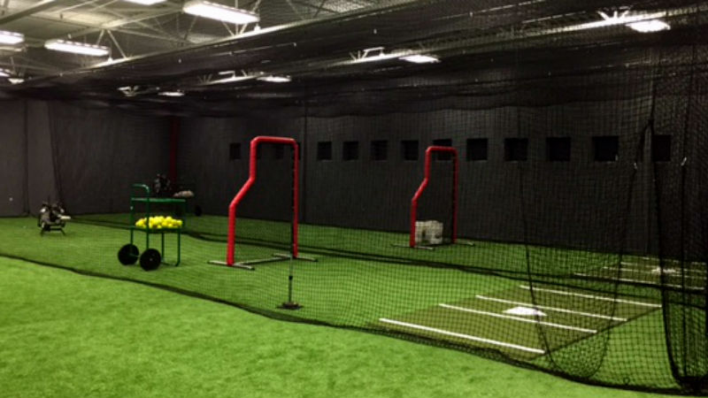 Baseball training indoor batting cages upward star for Design indoor baseball facility